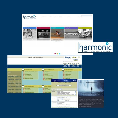 Harmonic Corporate Site, Extranet, and Email Campaigns